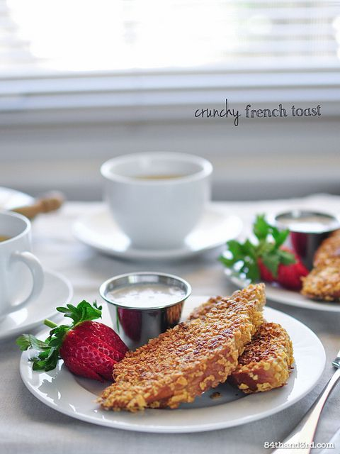 Crunchy French Toast | I'd Love To Make This | Pinterest