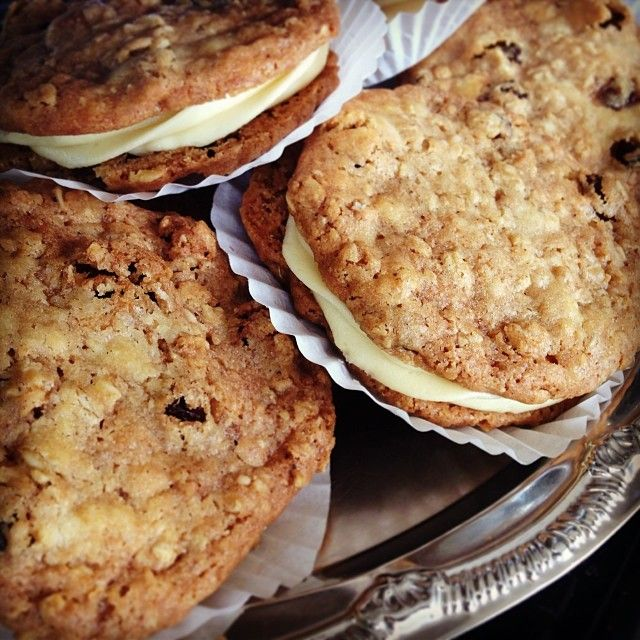 Oatmeal Sandwich Cookies With Rum Raisin Filling Recipe — Dishmaps
