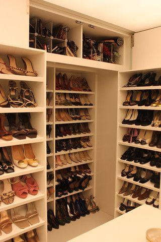 hidden shoe storage shelves #dreamcloset  Home  Pinterest