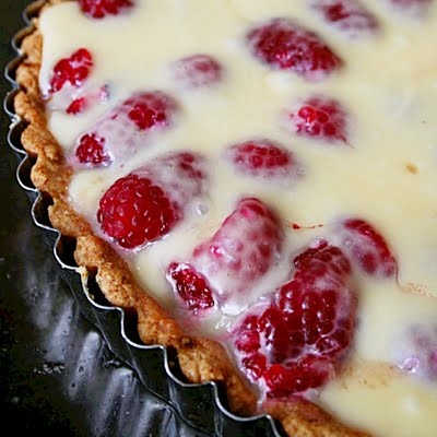 White Chocolate Raspberry Tart   My mouth is watering   Pinterest