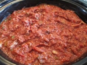 Crock Pot Bolognese Sauce with Ground Sirloin