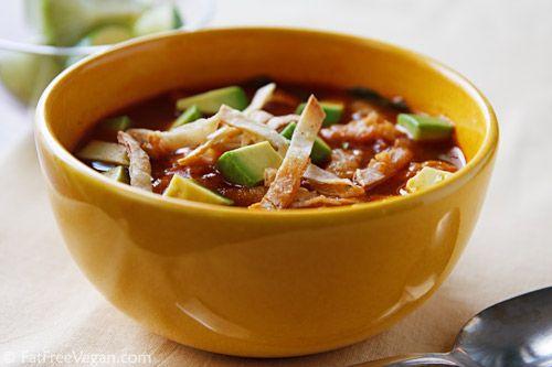 Tortilla Soup with Pinto Beans | Recipe
