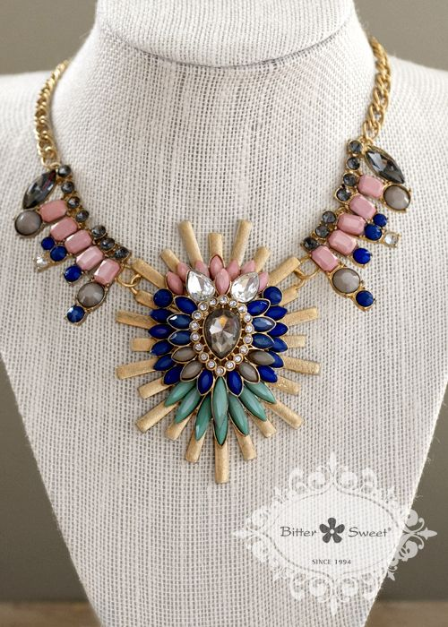 Fashion statement necklace by Bitter Sweet Jewellery. #fashion #bold # ...