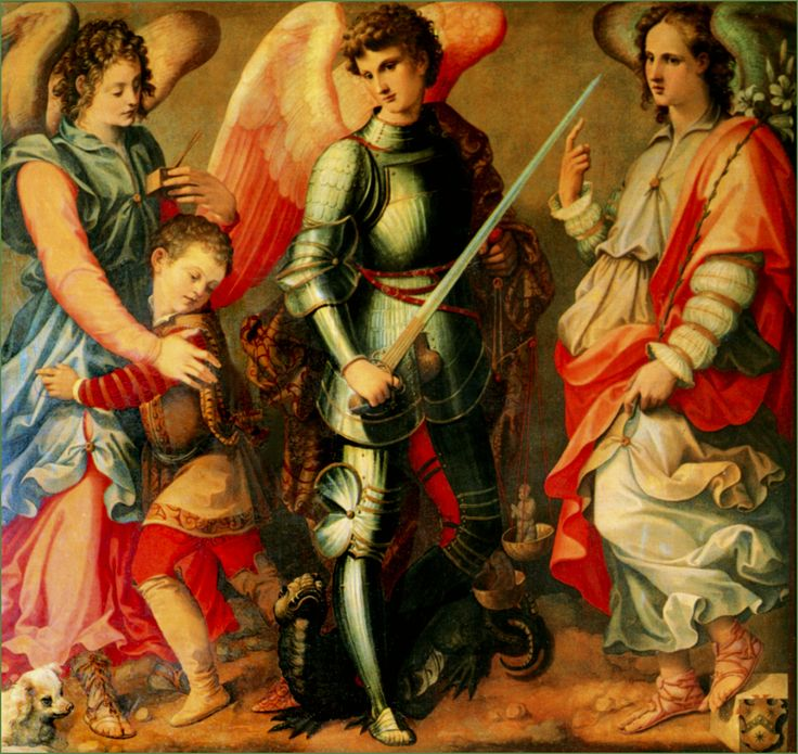 archangels | Three Archangels: MICHEL TOSINI,1503-1577