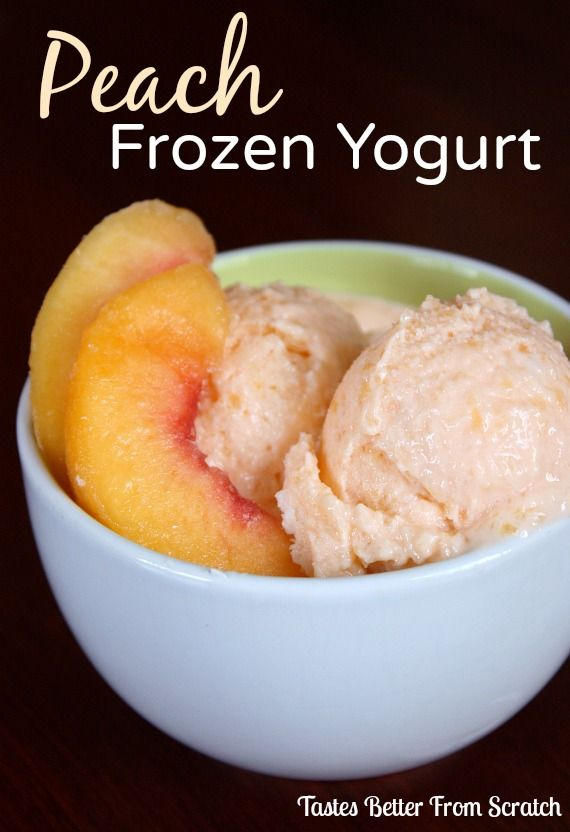 Peach Frozen Yogurt on MyRecipeMagic.com
