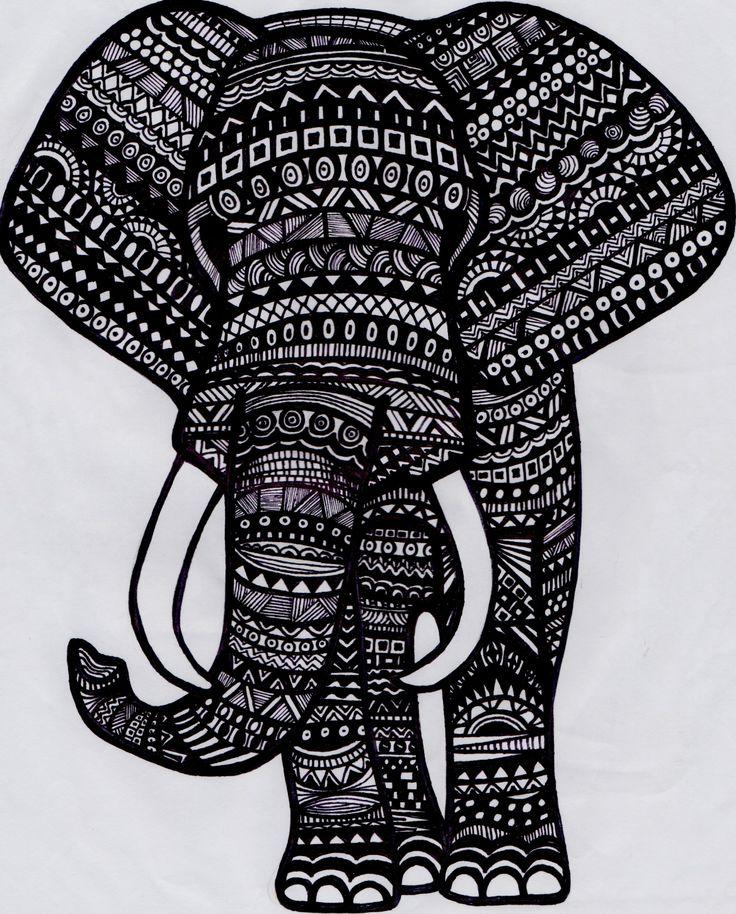 Tribal Elephant Tumblr Traffic Club
