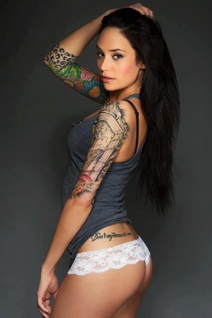 Hot Girls Half Sleeve Tattoos