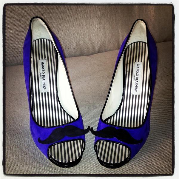 Manolo Shoes #moustache