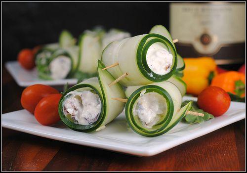 Cucumber Feta Rolls   aPpeTiZers & siDEs   Pinterest