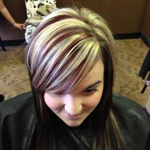 Blonde and cherry cola hi-lights | HAIR | Pinterest