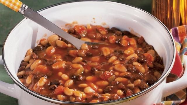 Slow-Cooked Tex-Mex Baked Beans | Beans | Pinterest
