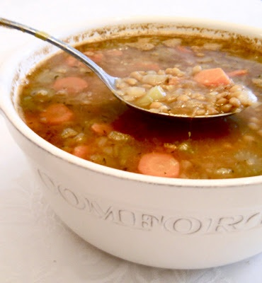 Lentil And Sausage Soup For A Cold Winter's Night Recipe — Dishmaps