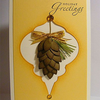 Christmas Punch Pine Cones   card ideas   Pinterest