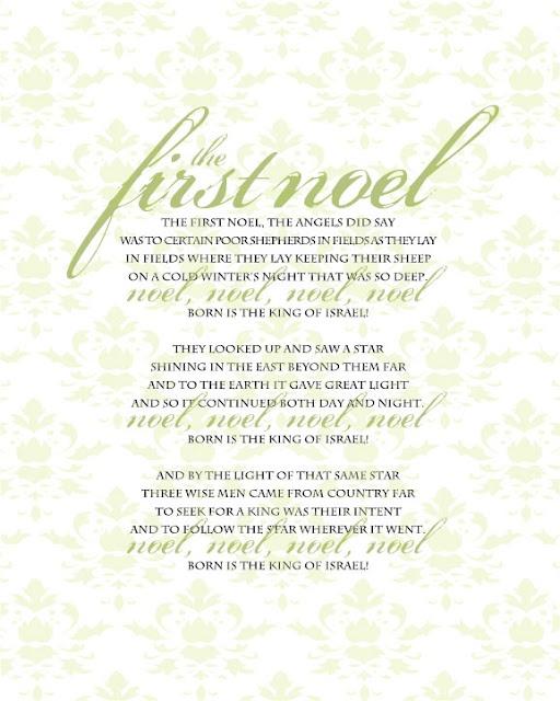 the first noel lyrics pdf