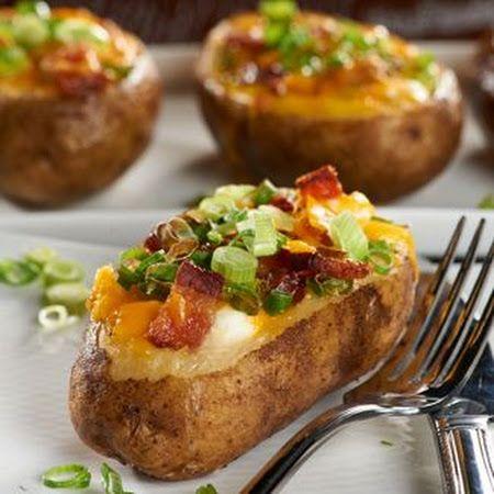 Loaded Breakfast Baked Potato | food | Pinterest