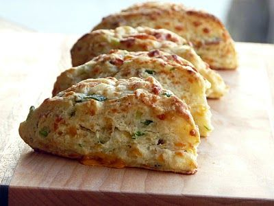 Bacon, Cheddar and Green Onion Biscuits | Recipies: Savory | Pinterest