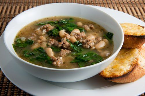 Spinach, White Bean and Turkey Sausage Soup | Recipe