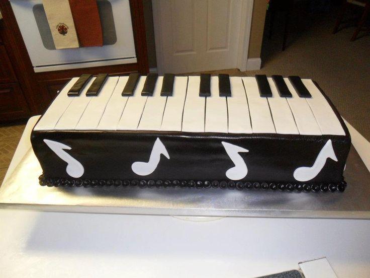 Piano/Keyboard Groom's Cake | Groom's Cakes | Pinterest