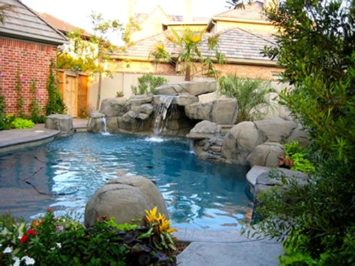 Jacuzzi In My Backyard :  backyard waterfall pools & Jacuzzi in the backyard of my house