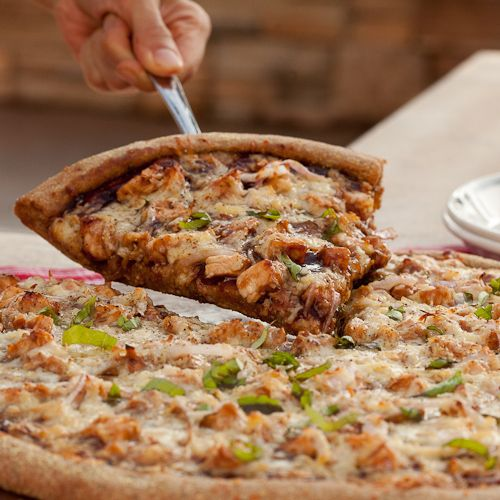 BBQ Chicken Bacon Pizza - a crowd pleaser!