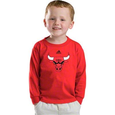 Adidas chicago bulls primary logo long sleeve t-shirt - black