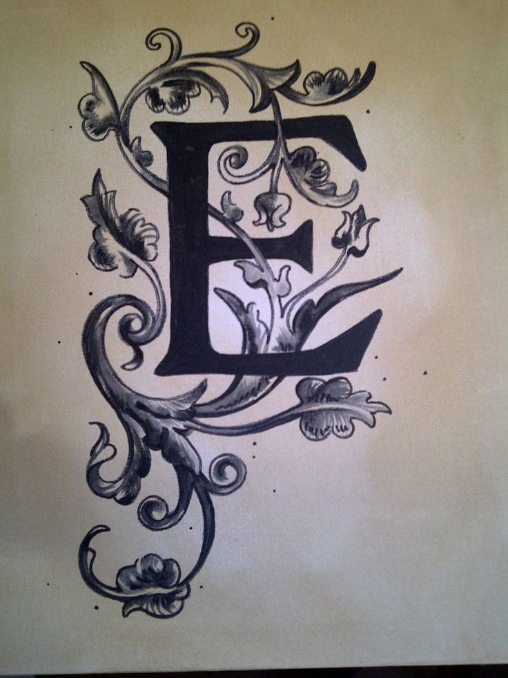 letter e tattoo designs bing images. Black Bedroom Furniture Sets. Home Design Ideas