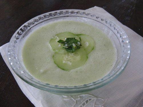 Cucumber Honeydew Soup, a recipe on Food52
