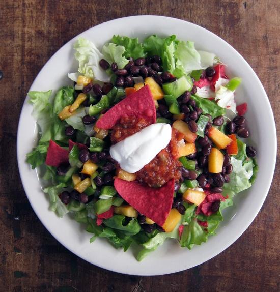 Nectarine & Black Bean Crunch Salad r | Salads To Yum By | Pinterest