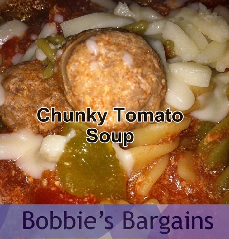 Slow Cooker Chunky Tomato Soup | keeping your insides warm | Pinterest