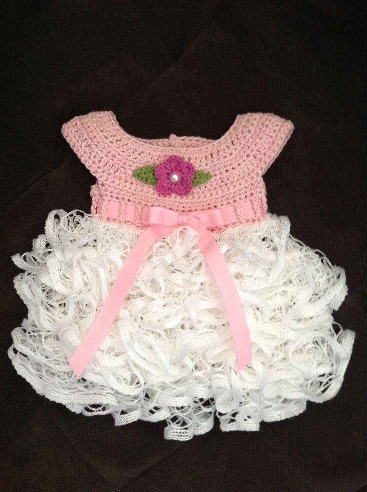 How To Crochet Ruffled Baby Dress Pattern Traitoro For