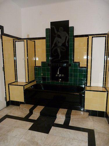 Art Deco Bathroom Vintage Tile Pinterest