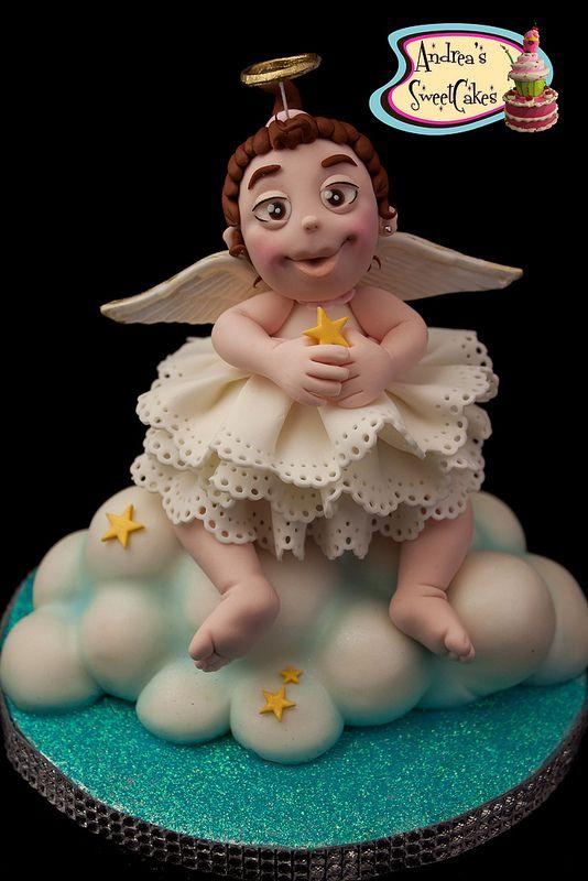 Angel Cake Topper Baby Shower Items Pinterest