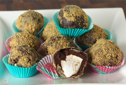 mores truffles | Food Inspiration - Sweets & Treats | Pinterest