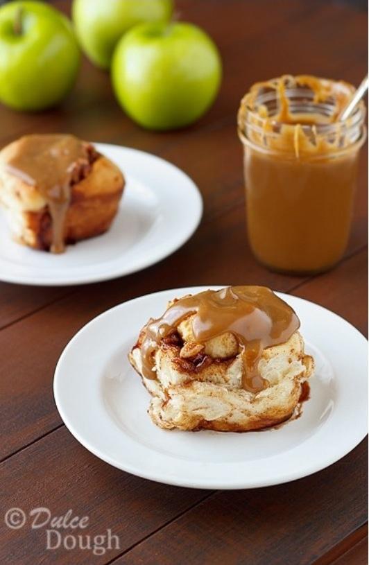 Caramel Apple Cinnamon Rolls | Recipe
