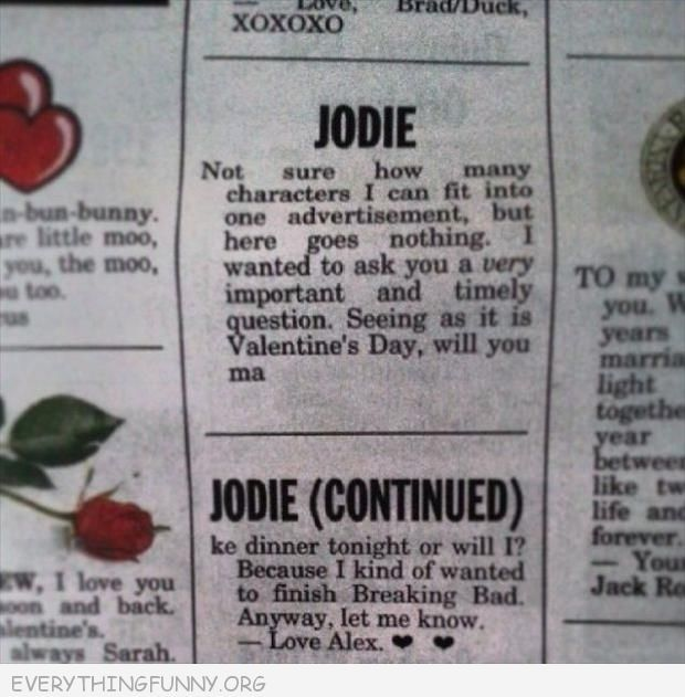 valentine's day newspaper articles