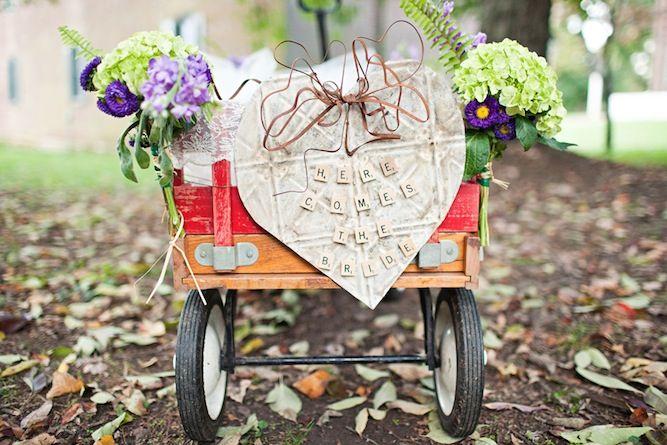 such a cute 'here comes the bride' DIY wagon http://su.pr/1aN7tZ
