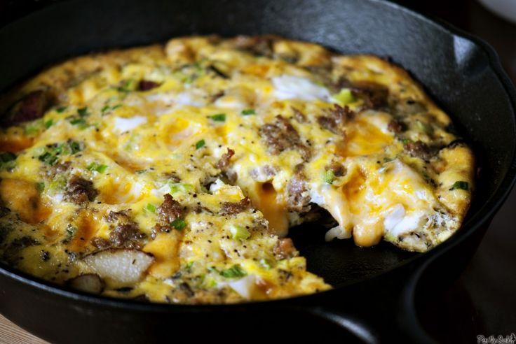 Cheesy Potato Frittata | Breakfast | Pinterest