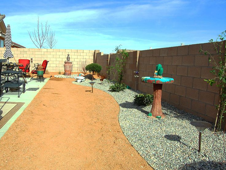 Xeriscaped Backyard Design : Completed, economical xeriscape backyard  The Great Out of Doors  P