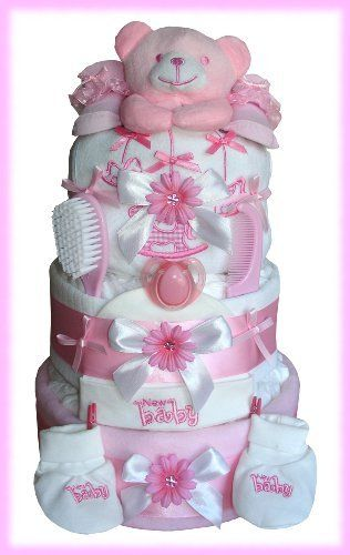 Angel Baby Girl 3 Tier Nappy Cake by Labours Of Love Baby Gifts, http://www.amazon.co.uk/dp/B00AL4N4QW/ref=cm_sw_r_pi_dp_D6lYqb1FH28DV