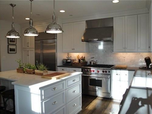 Marble Subway Tile Matte Black Counters Kitchens Ideas Pinterest