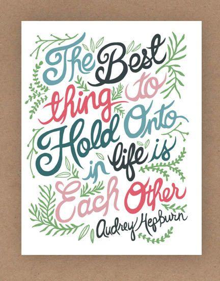 8x10-in Audrey Hepburn Quote Illustration Print. $25.00, via Etsy.