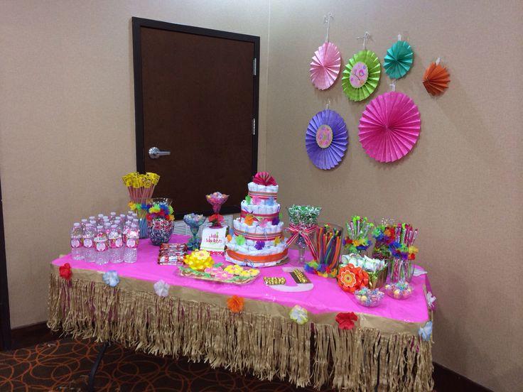 hawaiian themed baby shower