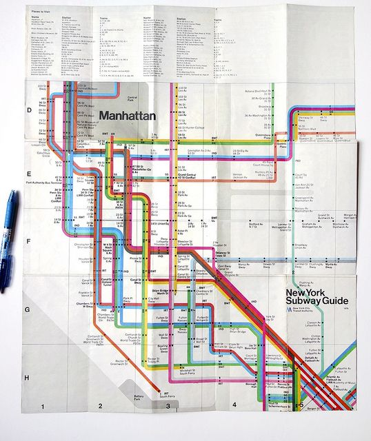 NYC Subway Map By Massimo Vignelli  Types  Pinterest