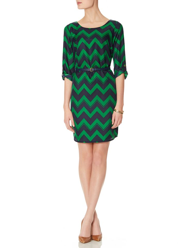 belted chevron dress s dresses the limited