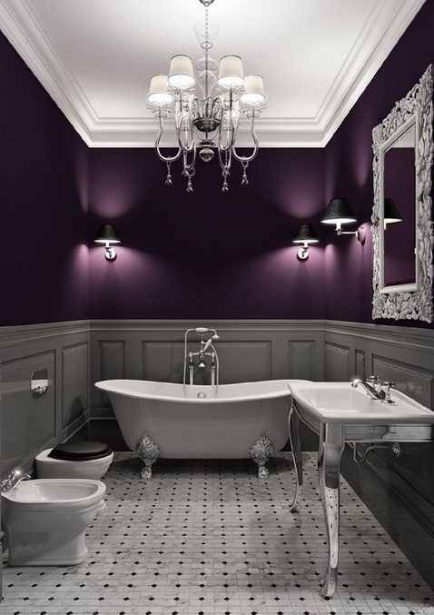 Pin by kristin wallace on for the home pinterest for Aubergine bathroom ideas