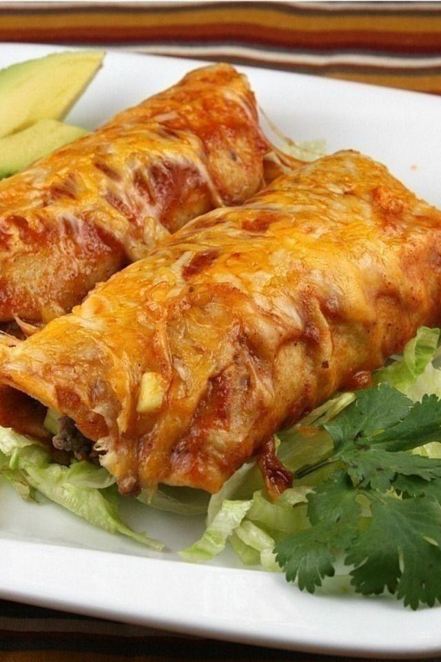 Easy Beef Enchiladas | Decadently Savory | Pinterest
