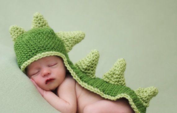 baby dinosaur crochet hat pattern