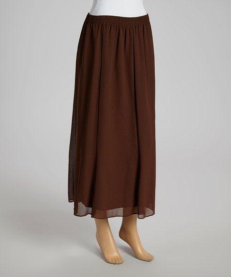 brown maxi skirt plus