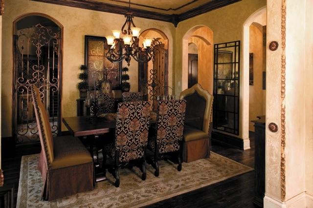 Great old world tuscan dining room dream home for Tuscan dining room ideas
