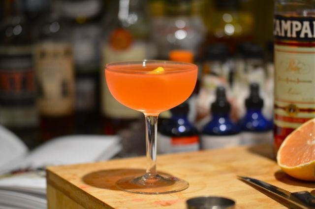 The Siesta Cocktail: tequila, Campari, lime and grapefruit juice ...